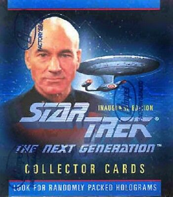 Star Trek The Next Generations  Inaugural Sealed Box Cards
