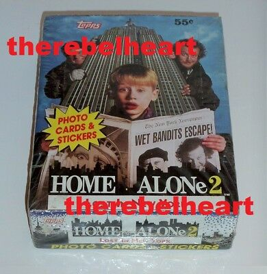 HOME ALONE 2 1992 Topps Trading Card Box SEALED 36 Pack STICKERS Macaulay Culkin