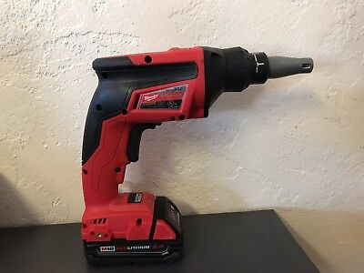 Milwaukee 2866-20 M18 FUEL Drywall Screw Gun With 1 M18 2.0 Battery