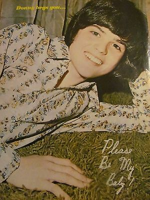 Donny Osmond, The Osmonds Brothers, Alan and Merrill, Full Page Vintage Pinup