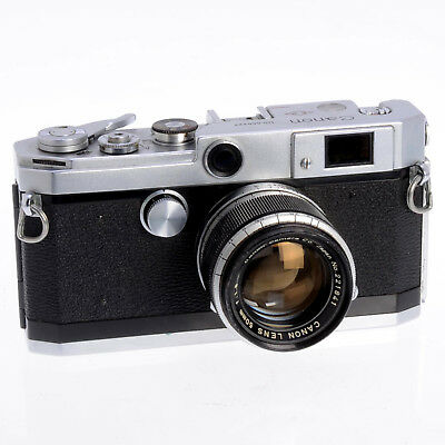Canon Collectible L1 Silver 35mm Film Rangefinder Body w Thread Mount 50mm F1.8