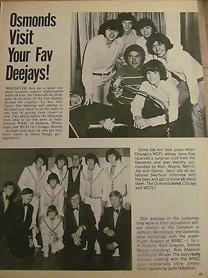 The Osmonds, Donny Osmond, Brothers, Full Page Vintage Clipping