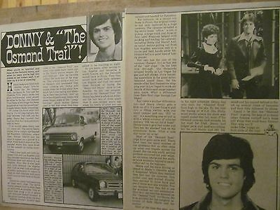 Donny Osmond, The Osmonds Brothers, Two Page Vintage Clipping