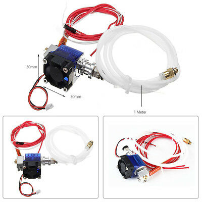 3D Printer Extruder Metal J-head Hotend Bowden Kits for 1.75mm/0.4mm E3D V6 12V