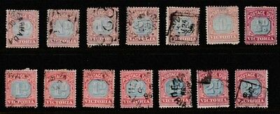 Australia Victoria 1890-1905 Selection Of Used And A Few Mint Postage Due Stamps