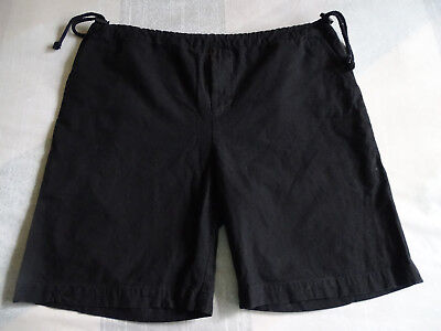 Vintage Lg. International Male Casual Shorts,Black w/Tighten On Side,Made In USA