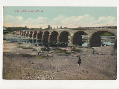 The Bund Bridge Poona India Vintage Postcard 184a