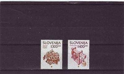 SLOVENIA - SG198a-198b MNH 1993 300t & 400t DEFINITIVES