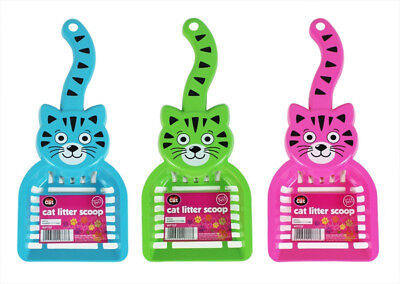 Pack of 2 Cat Litter Tray Scoop Poop Scooper Plastic Shovel Kitten Cleaning Tool