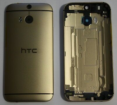 HTC One M8 Akkudeckel Deckel Schale Battery Cover Gehäuse Backcover Gold Or