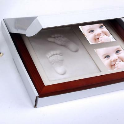 Newborn Baby Handprint Footprint Memory Kit Non Toxic Clay Mold & Picture Frame