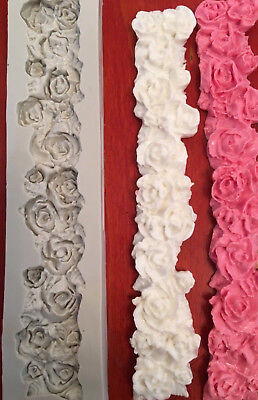 3D Rose Flower Sugarcraft Fondant Cake Mold Chocolate Soap Candle Silicone Mould