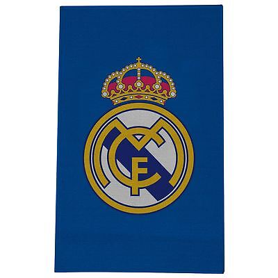 Real Madrid Cf Crest Floor Rug - Blue - Boys Bedroom Decor 80Cm X 50Cm New