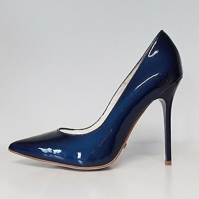Buffalo Damen High Heel Pumps  Met Patent blau Leder Gr. 36 38 39 40 42