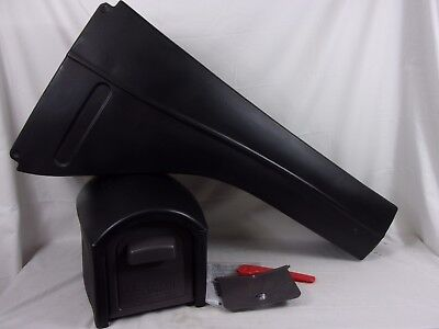Step2 Mail Master Streamline Black Over Post Mounted Plastic Mailbox 566900 6MB