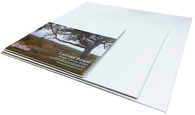 ARTIST BLANK CANVAS BOARDS ACRYLIC & OIL PAINTING COTTON DUCK GESSO PRIMED 280g