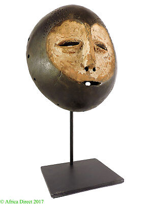 Lega Mask Bwami Society Custom Stand Congo African Art