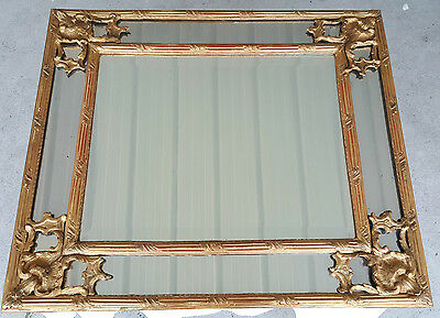Mirror a connector xixth 19e Wood Golden LOUIS XV Style Gold Frame art
