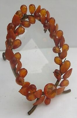 Antique Russian/baltic Amber Photo Frame