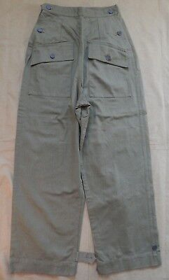 WWII U.S. Army, Woman's Herringbone Twill, HBT Work Trousers, Excellent Cond.