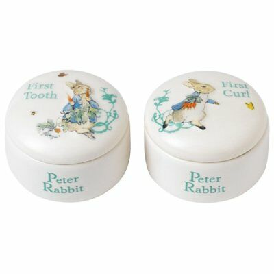 Beatrix Potter Peter Rabbit Tooth & Curl Trinket Boxes Baby Gift Idea NEW