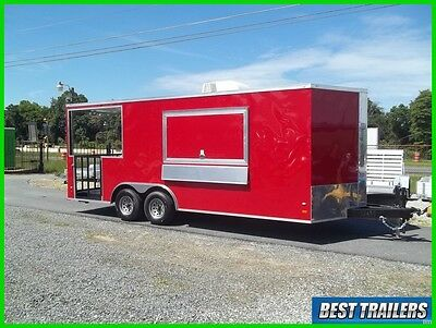 2017 8x20 bbq Porch Enclosed Concession trailer vending 8 x 20 electrical w sink