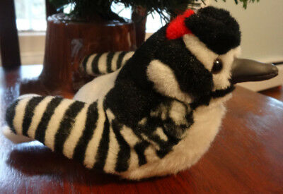 K & M Wild Republic Plush Audubon Birds DOWNY WOODPECKER W/ Real Bird SOUNDS