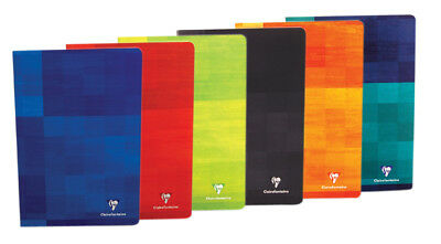 Clairefontaine 63125 Notebook 8.25x11.75 Ruled w/margin, Assorted Color Covers