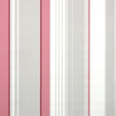1940s Vintage Wallpaper Striped Gray Burgundy Pink And White Stripes