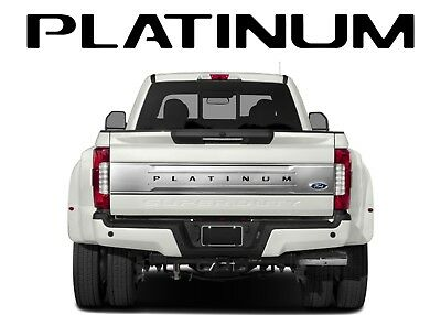 Gloss Black PLATINUM Tailgate Vinyl Decals For 2017+ Ford F-250/F-350/F-450 New