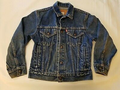 Vintage Boys Levi's Jacket Size 12 100% Cotton Made in the USA