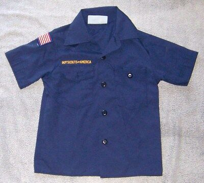 BSA Boy Scouts of America Official Blue Cub Shirt Youth Small S Size 6 - 8