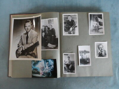 Jerry Byrd Scrapbook Candid/Promo/Fan Club Photos Signed - Grand Ole Opry