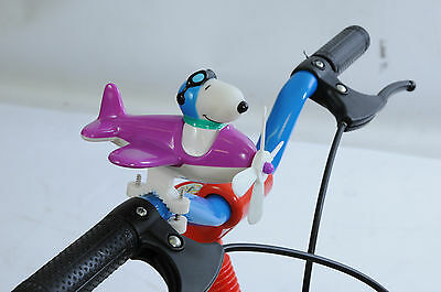 Snoopy Bicycle Handlebar Aeroplane Toy Great Xmas Present Big Discount Purple