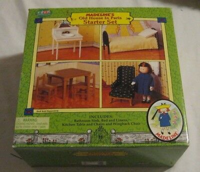 Eden Madelines Old House In Paris Starter Set Bed Table Chairs For 8 Inch Doll