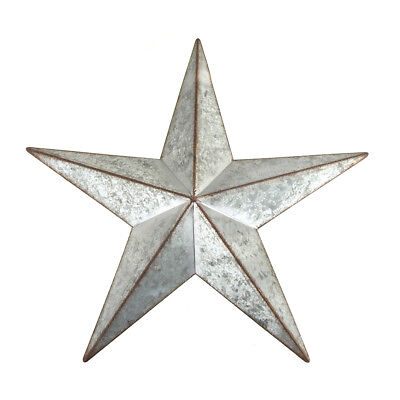 Galvanized 5-Point Star Christmas Decor, Silver, 9-1/2-Inch