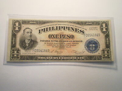 1944 1 Peso Note Philippines/ Victory