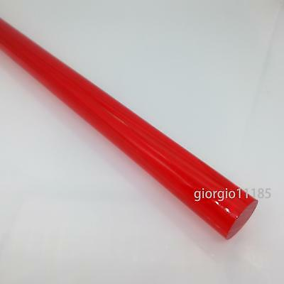 "US Stock 3pcs 20mm Dia. 13"" Long Red Acrylic Plexiglass Lucite Plastic Rod"
