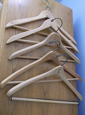 Vintage Wooden Clothes Hangers (5) 17""