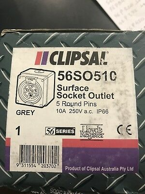 Clipsal Three Phase 5 Pin 10A Socket 56SO510
