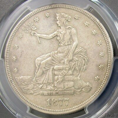 1877-S Trade Dollar - PCGS Genuine XF Details - Certified Silver $1 Coin