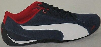 MEN S PUMA DRIFT Cat 5 Nm 2 Peacoat blue  Red white Suede Shoes Size ... 3a49483e7