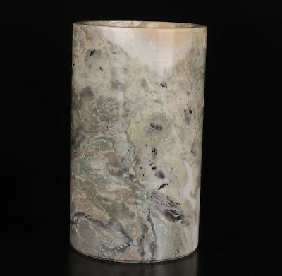 Marble Carving Natural Line High-Grade Penholder Pot Collectable
