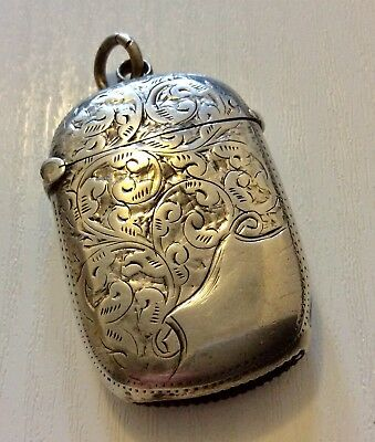 Lovely Quality Antique Victorian 1897 Chester Hallmarks Solid Silver Match Case