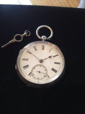 Antique Silver Fusee Pocket Watch By Camerer Kuss & Co Oxford St London 1883