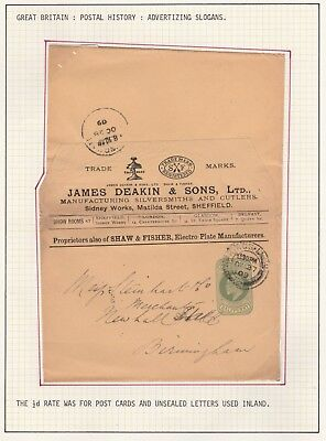 EDWARD VII 1/2d GREEN PRINTED ADVERTISING SLOGAN ON COVER