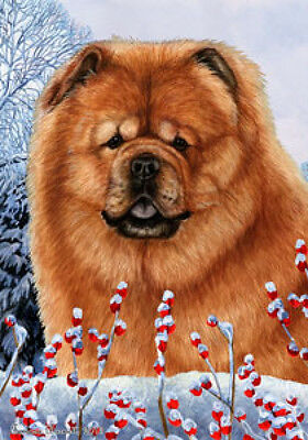 Large Indoor/Outdoor Winter Flag - Chow Chow 15114