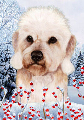 Large Indoor/Outdoor Winter Flag - Mustard Dandie Dinmont Terrier 15210