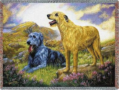 Throw Tapestry Afghan - Irish Wolfhound Pair by Robert May 2010