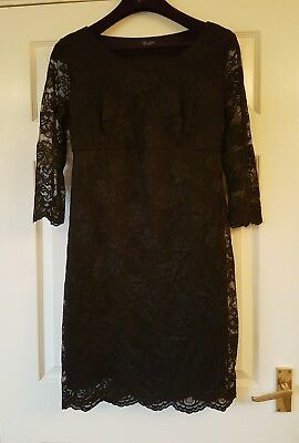 Black lace Maternity Dress. Christmas Party. Size 14. New Look